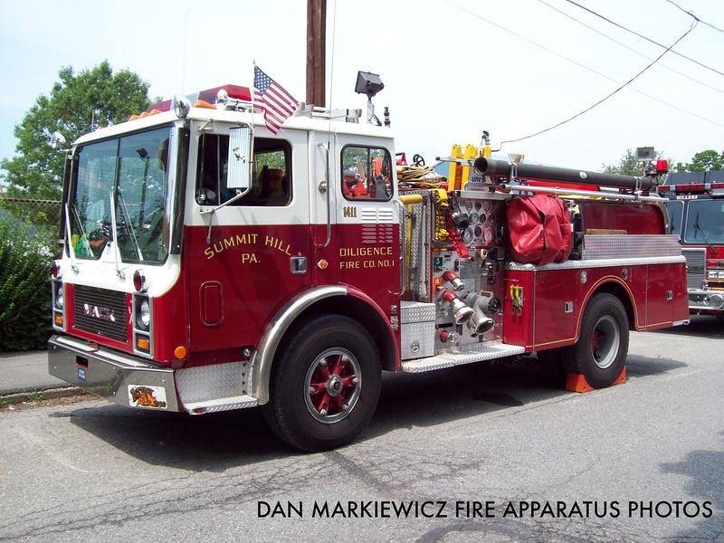 DILIGENCE FIRE CO. X- ENGINE 1411 1981 MACK MC PUMPER