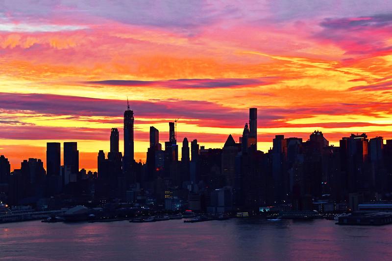 NYC Sunrise Painted Skies