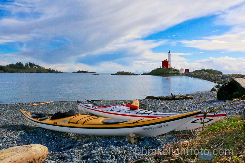 Kayaks at Fisgard Lighthouse