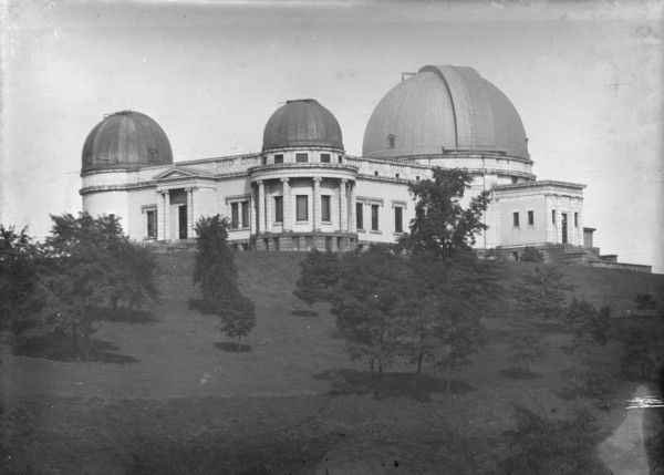 Classic Allegney Observatory image at the new location within Riverview Park.