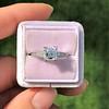 1.19ct Art Deco Carre Cut Diamond Solitaire 5