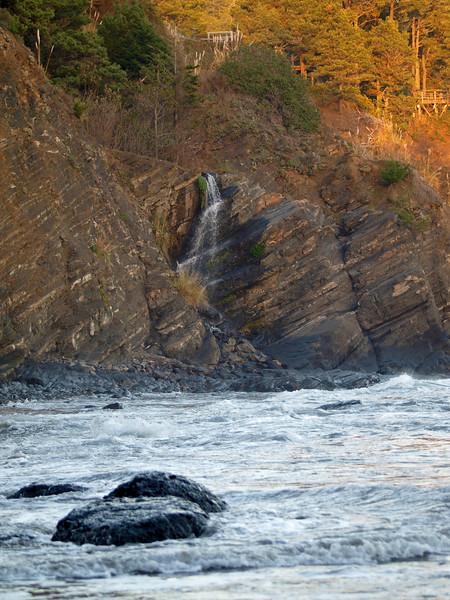Waterfall at Whale Watch Inn
