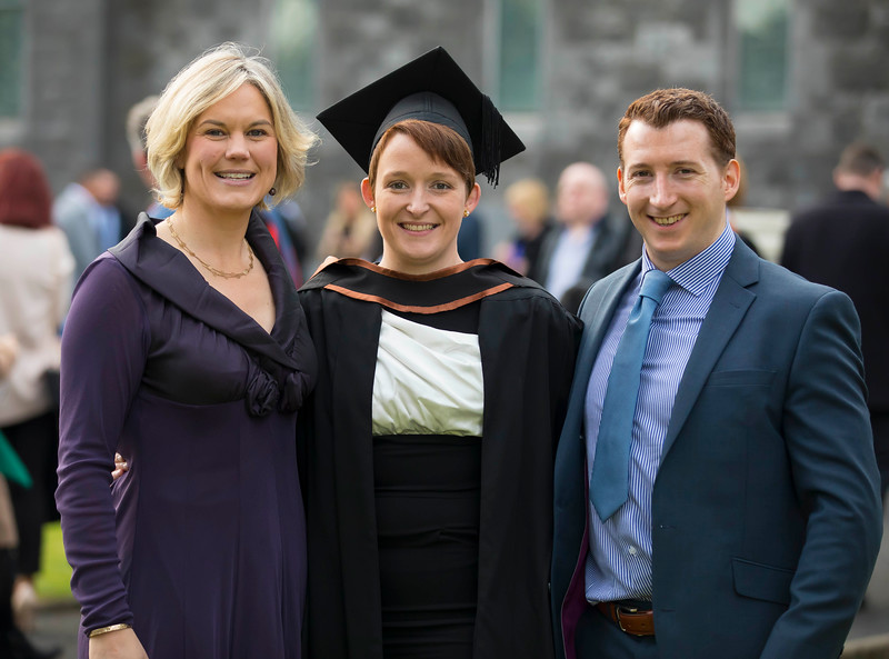 02/11/2016. Waterford Institute of Technology (WIT) Conferring Ceremonies November 2016. Pictured is Christina Crampton who graduated in BSc (hons) Intellectual Disability Nursing, also pictured is her wife Katherine and brother Tony O'Callaghan. Picture: Patrick Browne