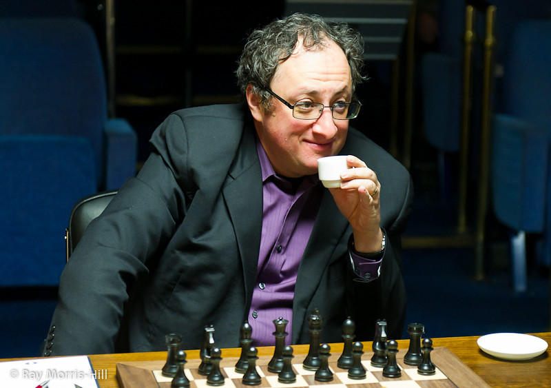 Boris Gelfand was in a relaxed mood at the start of Round 13