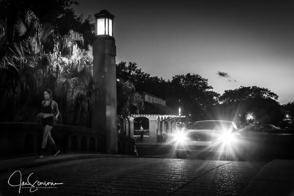 City Park at Night in B&W | Jun 2018