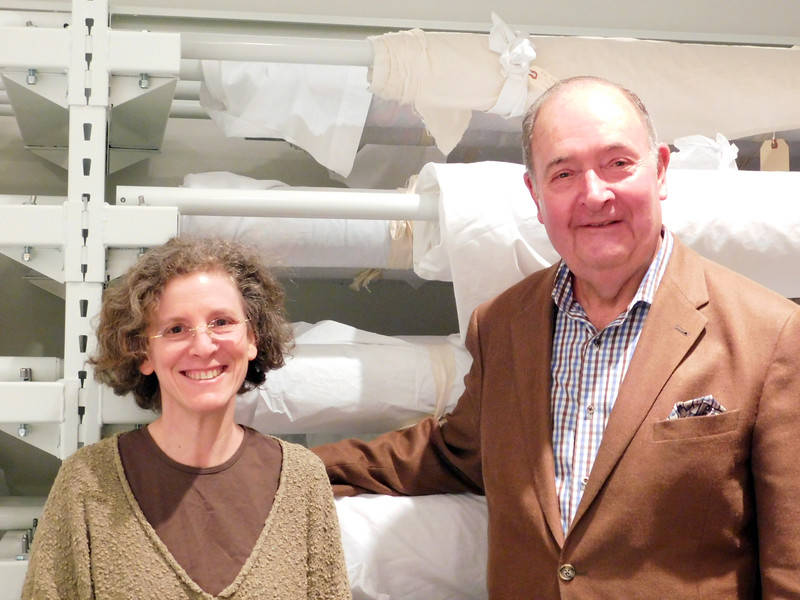 John M Walsh III Contemporary Art Quilt Collection Storage Facility - Lisa Goldberg and Jack Walsh by Cynthia Wenslow