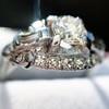1.18ctw Art Deco Princess Halo Ring 32