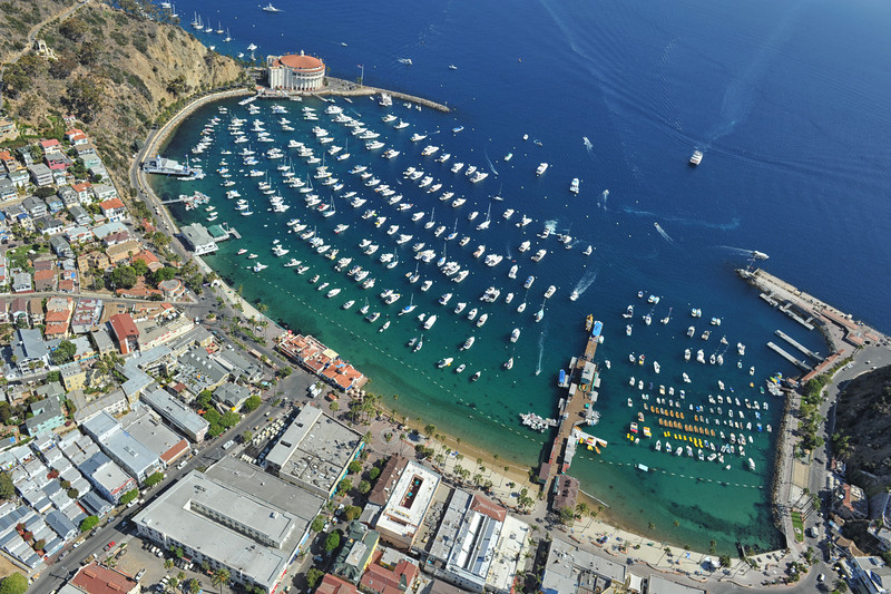 aerial view on Catalina