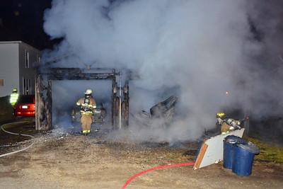 03-14-13 Coshocton FD Garage Fire
