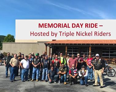 Memorial Day Honor Ride May 25, 2020