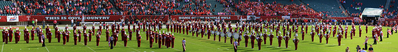 Panorama of the Temple marching band