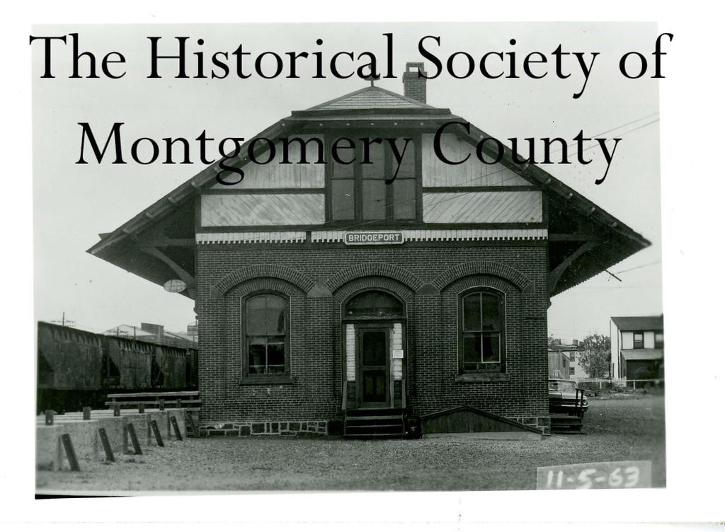 . This photo from the Historical Society of Montgomery County shows the Bridgeport Train Station in 1963.