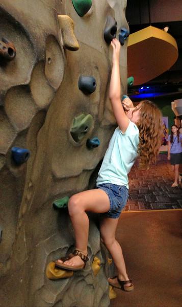 She likes to climb