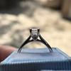 1.00ct Emerald Cut Diamond Solitaire, Platinum 11