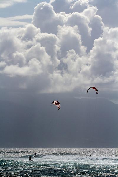 Kitesurfing - Ho'okipa, Maui - May 2012