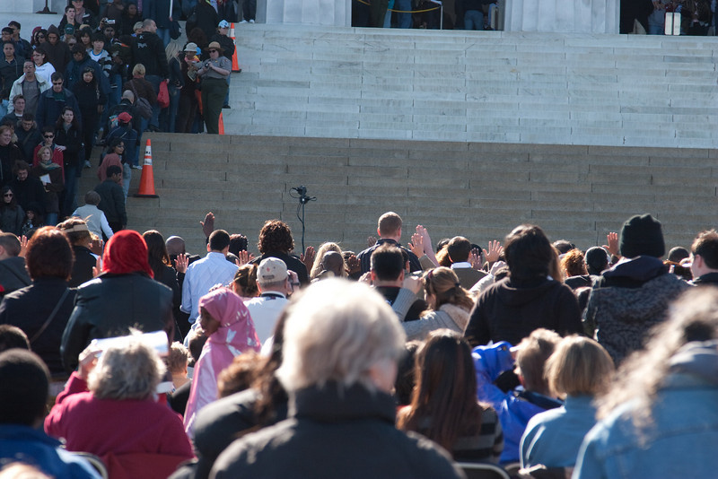 200 immigrants take the Oath of Allegiance as new citizens -- Marian Anderson Tribute Concert, Easter Sunday 2009 featuring Denyce Graves (commemorating Easter Sunday 1939) at the Lincoln Memorial