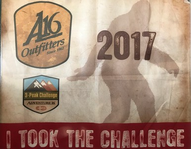 A16 Outfitters 3-Peak Challenge 2017