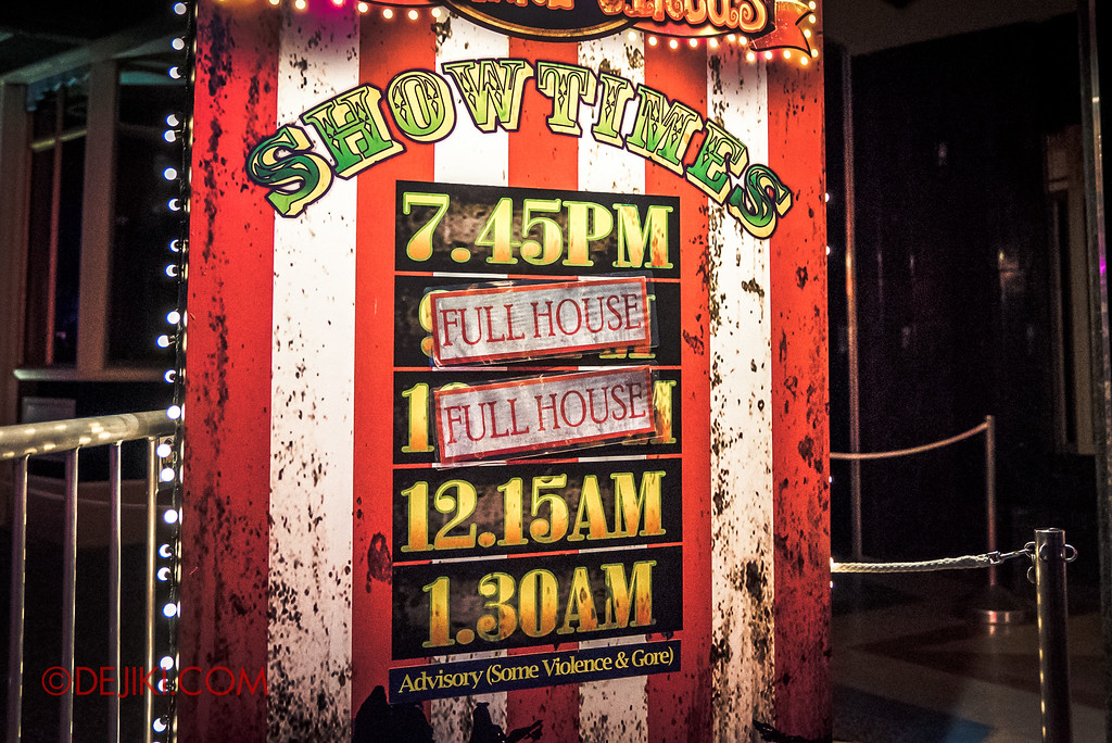 Halloween Horror Nights 6 - RIP Tour review / VIP Booking for best seats at Jack's Recurring Nightmare Circus show