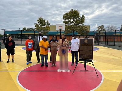 David Gantt Basket Ball Court Dedication