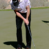 Jim Furyk putts. I noticed that the ball is actually airborne some 12 inches in front of the putter.