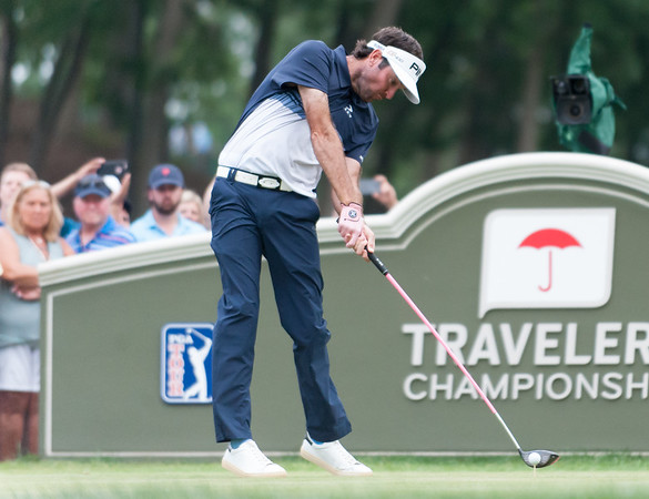 06/24/18 Wesley Bunnell   Staff The final day of The Travelers Championship at TPC River Highlands in Cromwell on Sunday June 24. Tournament Champion Bubba Watson with his tee shot on the 18th tee would go on to win with a -17.