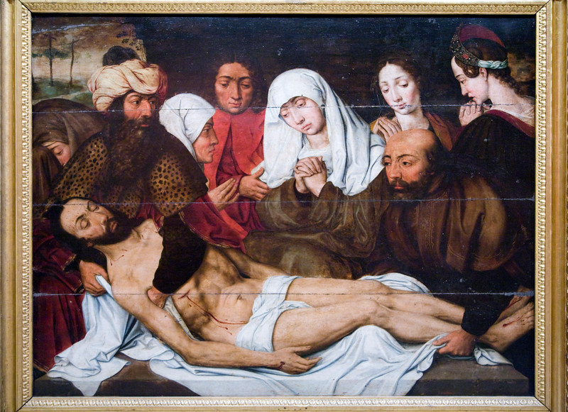 Holy Burial, by Vicente Sellaer (1560), Fine Arts Museum, Seville, Spain