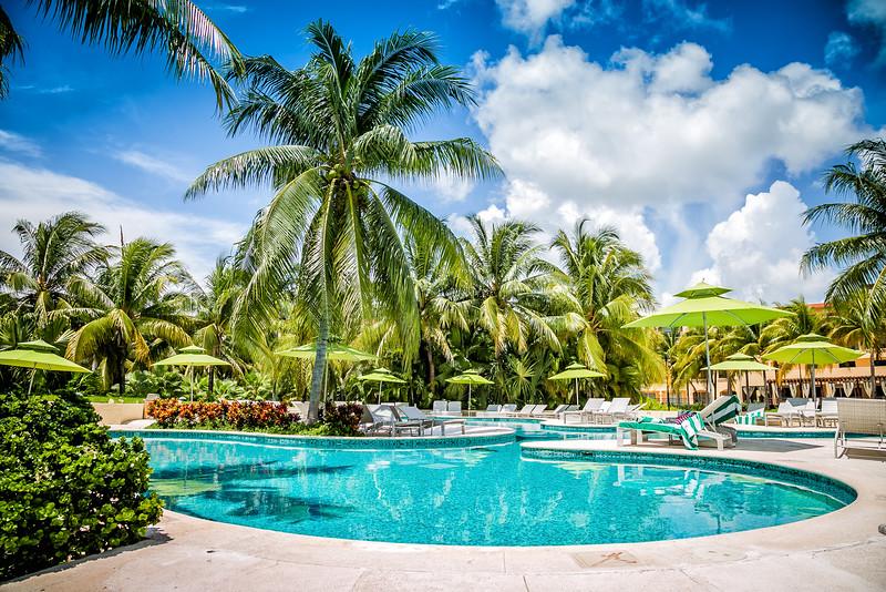 Luxury resort pool in the Maya Riviera Mexico
