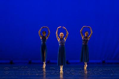 Starry Night Ballet trio - Destiny B., Katelyn C., and Madeline G.