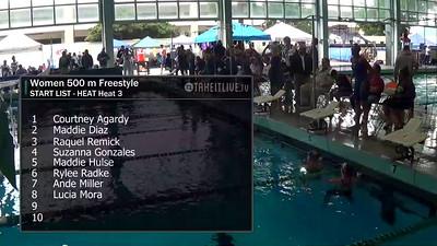 E03 Women's 500 yd Freestyle