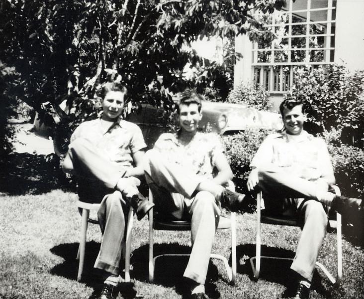 Bob, Buck, and Angelo. Early 1950s