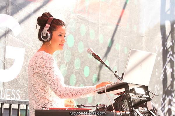 DJ Jena Red & ZNI at the KISS FM Jingle Ball Village Stage 12.3.2011