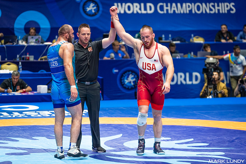 Quarterfinal: Kyle Frederick Snyder (United States) over Magomed Idrisovitch Ibragimov (Uzbekistan)  •  Fall 5:27 - 2019 World Championships