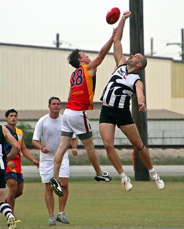 2011 AUSTRALIAN RULES FOOTBALL: Austin vs. Dallas at J. S. Clark Park in Baton rouge on June 11.