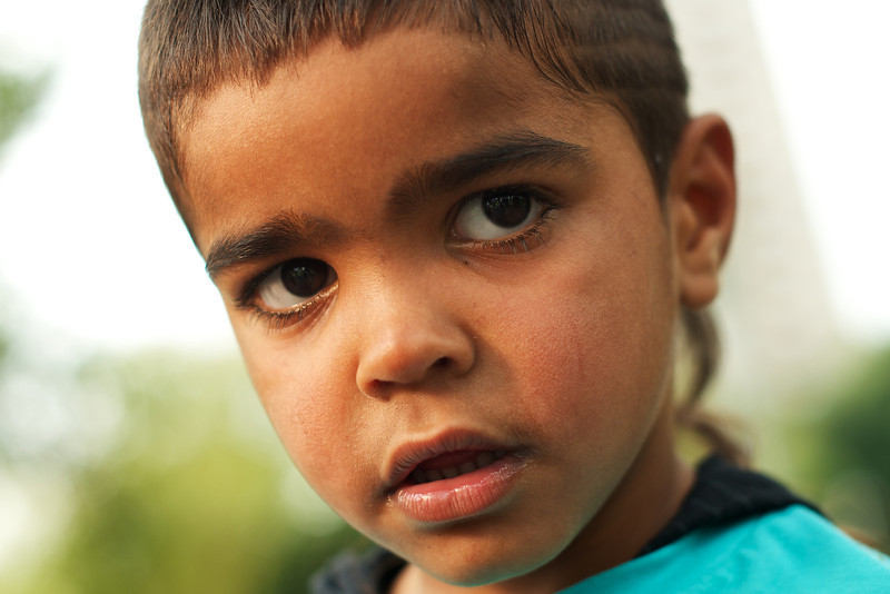 Close up of an Aboriginal Boy