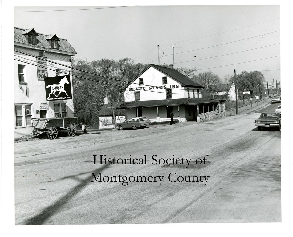 . This undated photo from the Historical Society of Montgomery County shows the Seven Stars Inn that was located on Ridge Pike in Plymouth. It was razed in 1969 and had been an inn since 1770.