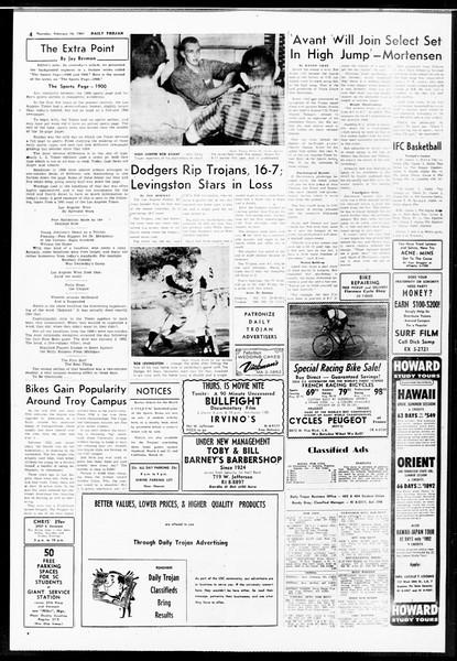 Daily Trojan, Vol. 52, No. 72, February 16, 1961