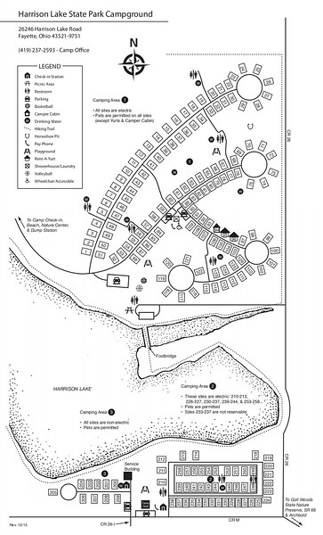 Harrison Lake State Park (Campground Map)