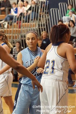 01-10-2012 Gaithersburg HS vs Clarksburg HS Varsity Girls Basketball, Photos by Jeffrey Vogt Photography