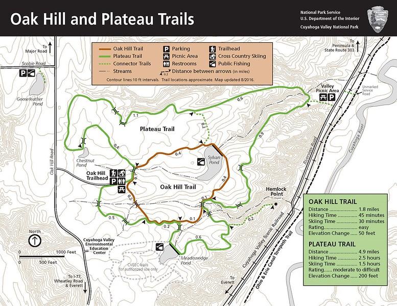 Cuyahoga Valley National Park (Oak Hill & Plateau Trails)