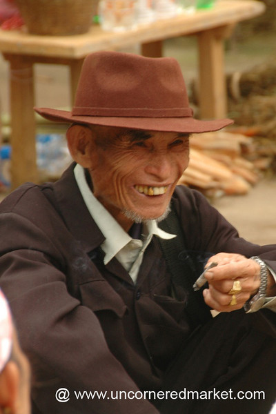 Laughing Elderly Man - Xishuangbanna, China