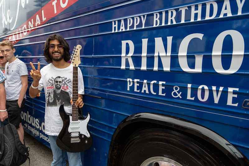 2019_07_07, Birthday, CA, Capitol Records, Los Angeles, Ringo, Bus, Exterior, Yamaha, GIveaways