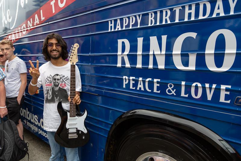 2019_07_07, Birthday, CA, Capitol Records, Los Angeles, Ringo, Bus, Exterior, Yamaha, GIveaways