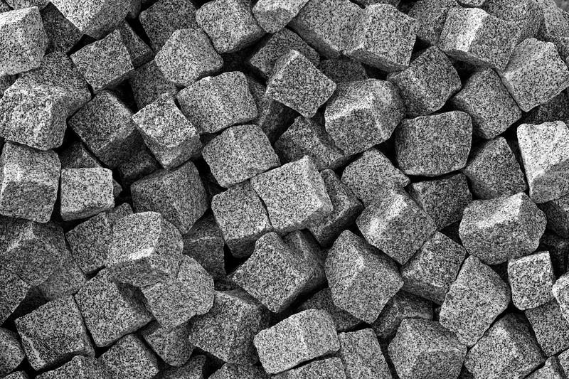 small granite cubes