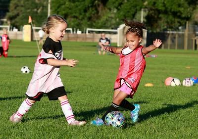 Natalie plays soccer