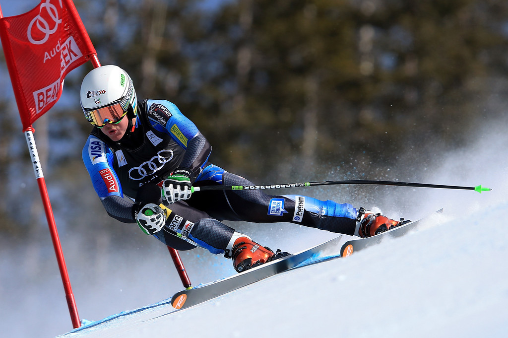 . Ryan Cochran-Siegle of the USA skis to 39th place in the men\'s downhill on the Birds of Prey at the Audi FIS World Cup on November 30, 2012 in Beaver Creek, Colorado.  (Photo by Doug Pensinger/Getty Images)