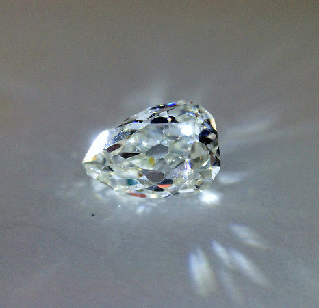 .25ct Antique Pear Cut Diamond