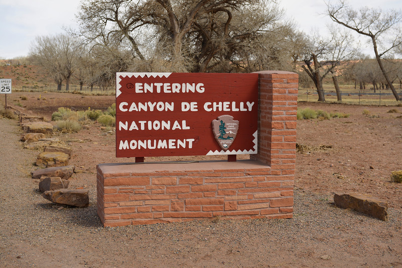 Entrance to Canyon De Chelly National Monument, Arizona