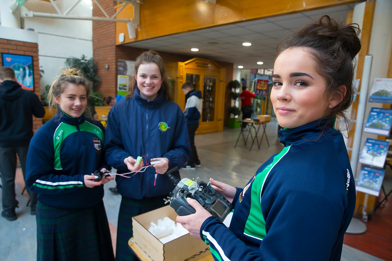 Pictured at WIT (Waterford Institute of Technology) at Engineers Week are Shannon Wall, Amiee Flemming and Meave Ryan from SSt. Marys Secondary School, New Ross. Picture: Patrick Browne