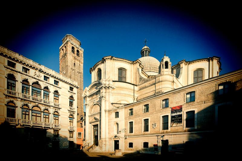 Palazzo Labia (left) and San Geremia church, Venice, Italy