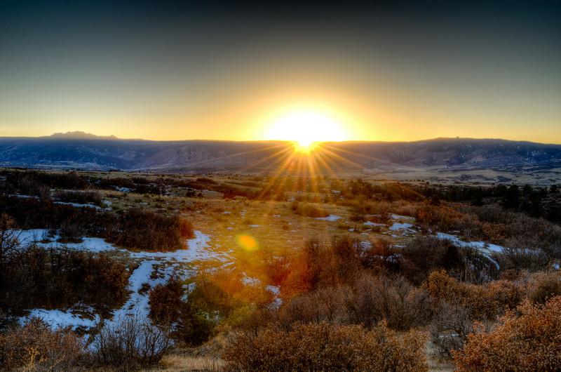 Colorado sunset taken January 29, 2011 in Castle Rock Colorado.